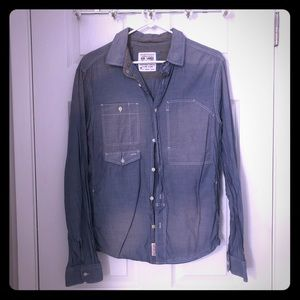Chambray faded jean All Saints button down shirt